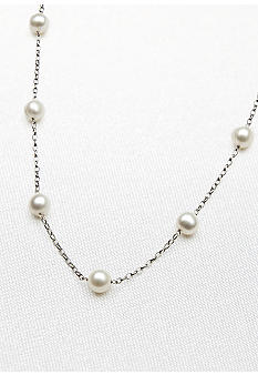Belk & Co. Sterling Silver Freshwater Pearl Tincup 18-in. Necklace