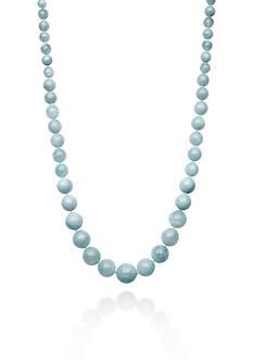 Belk & Co. Sterling Silver Milky Aquamarine Necklace