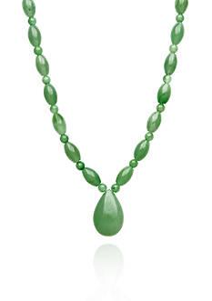 Belk & Co. Sterling Silver Jade Drop Necklace
