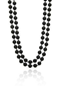 Belk & Co. Onyx Necklace in Sterling Silver