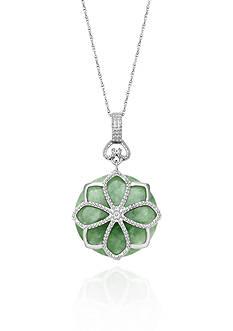 Belk & Co. Sterling Silver Jade Pendant