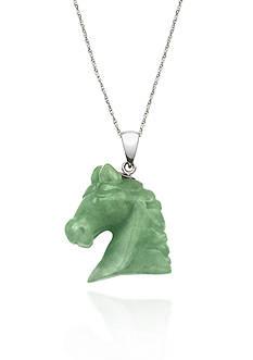 Belk & Co. Sterling Silver Jade Horse Pendant