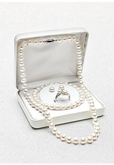 Belk & Co. Sterling Silver Freshwater Pearl 4-Piece Box Set