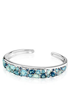 Belk & Co. Sterling Silver Blue Topaz Bangle Bracelet
