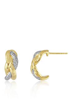 Belk & Co. Diamond Earrings in 10k Yellow Gold