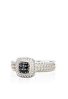 Belk & Co. Black Diamond Ring in Sterling Silver