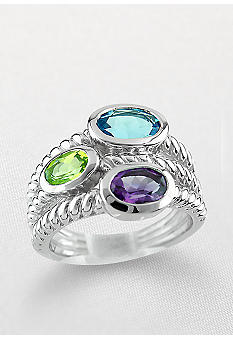 Belk & Co. Sterling Silver Multi Stone Ring