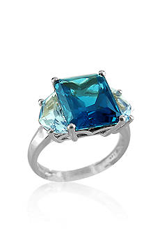 Belk & Co. London Blue Topaz and Swiss Blue Topaz Ring in Sterling Silver