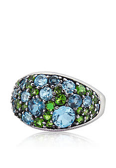 Belk & Co. Sterling Silver Multi-Color Gemstone Ring