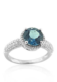 Belk & Co. Sterling Silver London Blue Topaz and Diamond Ring