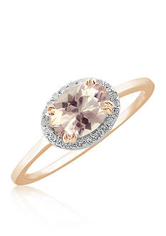 Belk & Co. Morganite and Diamond Ring in 10k Rose Gold