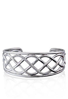 Belk & Co. Sterling Silver Diamond Cuff