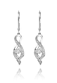 Belk & Co. Diamond Twist Earrings in White Gold