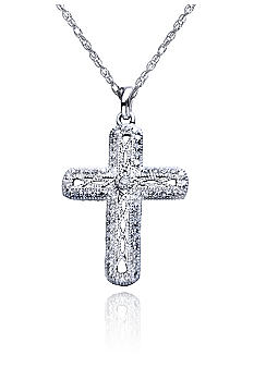 Belk & Co. Sterling Silver Diamond Cross Pendant