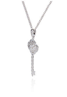 Belk & Co. Sterling Silver Diamond Key Pendant