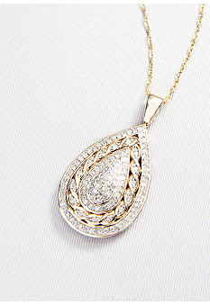 Belk & Co. Pear Shaped Diamond Pendant