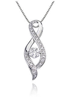 Belk & Co. Diamond Twist Pendant in 10k White Gold