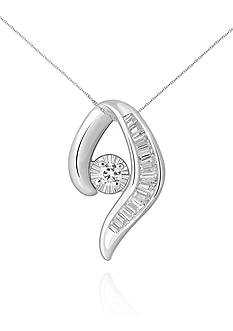 Belk & Co. Diamond Pendant Necklace Set in 10k White Gold