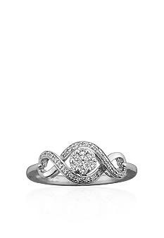 Belk & Co. Diamond Twist Ring in 10k White Gold