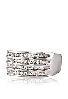 Belk & Co. Four Row Diamond Band in 10k Gold