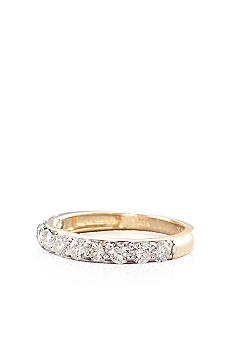 Belk & Co. Diamond Anniversary Band in 14k Yellow Gold