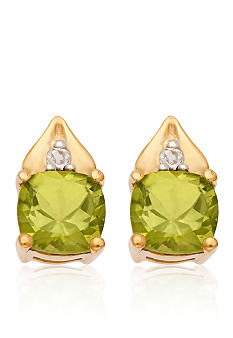 Belk & Co. 10k Yellow Gold Peridot and White Topaz Earrings <br>