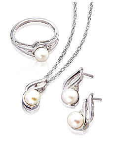 Belk & Co. Sterling Silver Freshwater Pearl 3-Piece Box Set