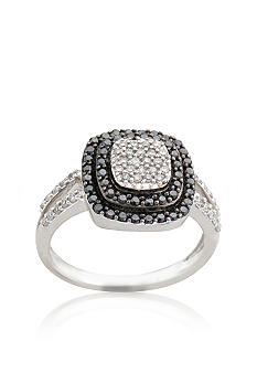 Belk & Co. Black & White Diamond Ring