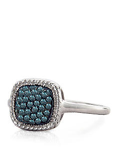 Belk & Co. Blue Diamond Ring in Sterling Silver