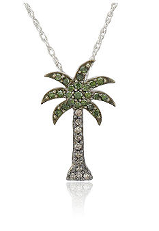 Belk & Co. Diamond Palm Tree Pendant in Sterling Silver