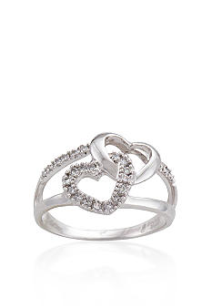 Belk & Co. Sterling Silver Diamond Heart Ring