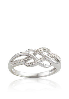 Belk & Co. Diamond Weave Ring in Sterling Silver