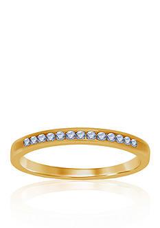Belk & Co. 1/6 ct. t.w. Diamond Wedding Band in 14k Yellow Gold