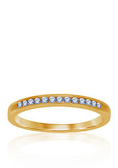 Belk & Co. 1/6 ct. t.w. Diamond Wedding Band in 14k Yellow Gold