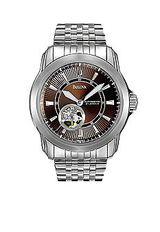 Bulova Series 100  Men's White Tone Stainless Steel Bracelet