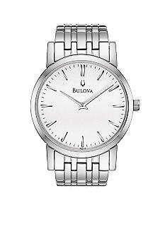 Bulova Men's White Tone Stainless Steel Bracelet