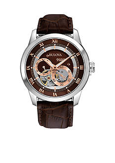 Bulova Men's Mechanical Leather Strap