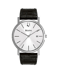 Bulova Bulova Men's Leather Strap Watch