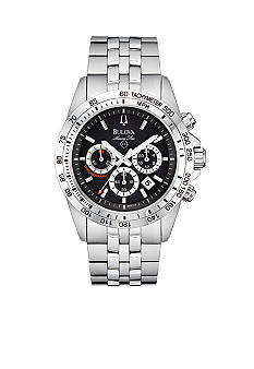 Bulova Marine Star Collection- Men's White Tone Bracelet