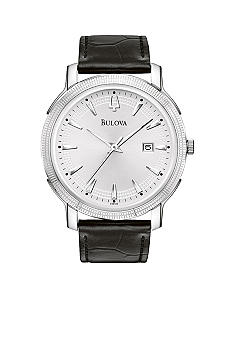 Bulova Men's Black Leather Strap
