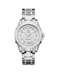 Bulova Precisionist - Longwood Collection - Ladies' White Tone Bracelet