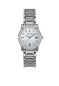 Bulova Ladies Stainless Steel Diamond Watch