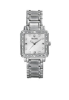 Bulova Diamonds - Highbridge Collection.  Ladies' White Tone Stainless Steel Bracelet.