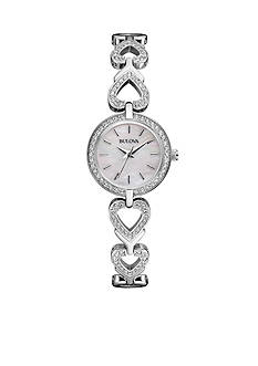 Bulova Women's Crystal Watch - Box Set