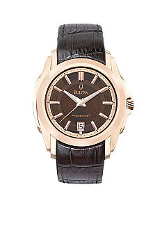 Bulova Precisionist Men's Brown Strap