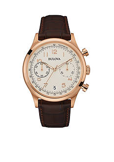 Bulova Men's Rose Gold-Tone Chronograph Watch