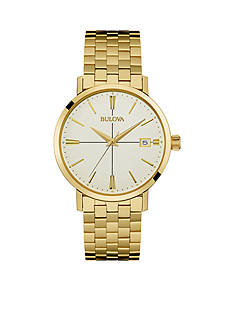 Bulova Mens Gold-Tone Watch