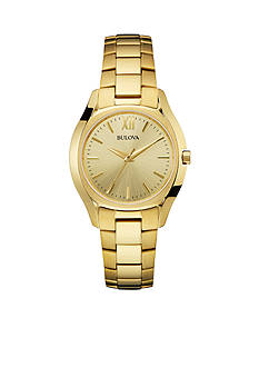 Bulova Women's Gold-Tone Stainless Steel Watch