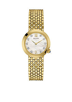 Bulova Women's Gold-Tone Bracelet Watch
