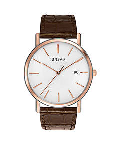 Bulova Brown Leather Strap Watch